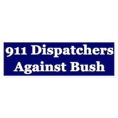 911 Dispatchers Against Bush (sticker)