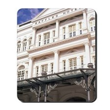 Famous Luxury Raffles Hotel in Singapore Mousepad