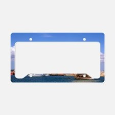 Stone Town Harbor and Dhow Ta License Plate Holder