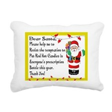 Pharmacy Santa RED HOTS Rectangular Canvas Pillow