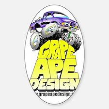 GrapeApeLogo Sticker (Oval)