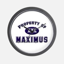 Property of maximus Wall Clock