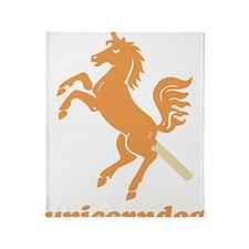 unicorndog Throw Blanket