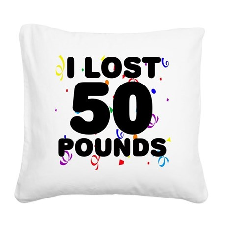 50Party Square Canvas Pillow