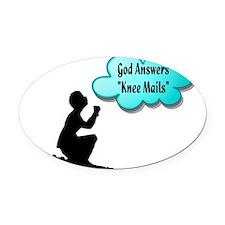 Knee Mails Oval Car Magnet