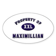 Property of maximillian Oval Decal