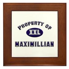 Property of maximillian Framed Tile