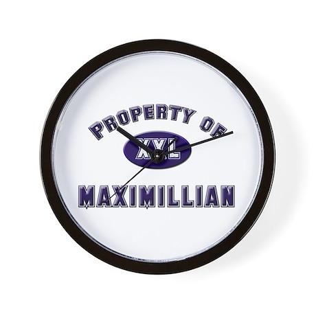 Property of maximillian Wall Clock