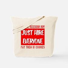 hire_everyone_transparent_redfont Tote Bag