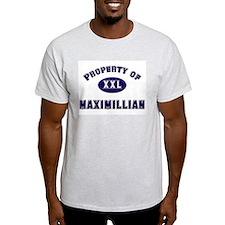 Property of maximillian Ash Grey T-Shirt
