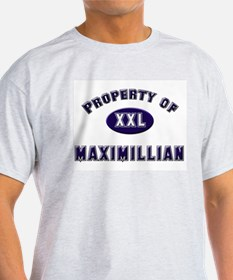 Property of maximillian Ash Grey T-Shirt