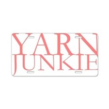 Yarn Junkie.gif Aluminum License Plate