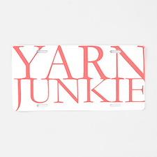 Yarn Junkie.gif Aluminum License Plate