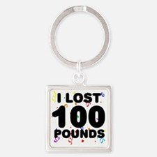 100Party Square Keychain