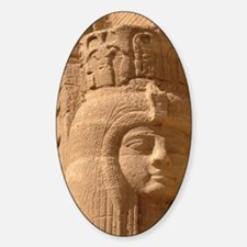 Great Temple of Ramesses II, statue Sticker (Oval)