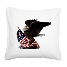 eagle1huge clean5 Square Canvas Pillow
