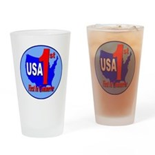 USA_1st_commerce_circle_transparent Drinking Glass