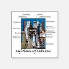 "Lake Erie Designt Square Sticker 3"" x 3"""