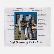 Lake Erie Designt Throw Blanket