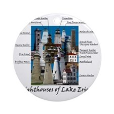 Lake Erie Designt Round Ornament