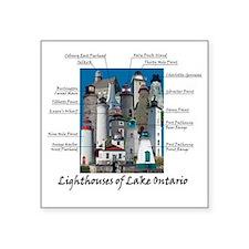 "Lake OntarioDesign Square Sticker 3"" x 3"""