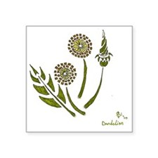 "dandelion Square Sticker 3"" x 3"""