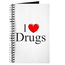 """""""I Love (Heart) Drugs"""" Journal"""