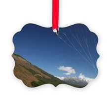 Paramotor skimming water, Diamond Ornament