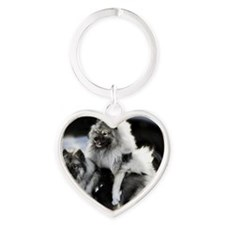 2 January Lexie and Bridget Heart Keychain