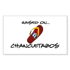 Raised on...Chancletazos Rectangle Decal