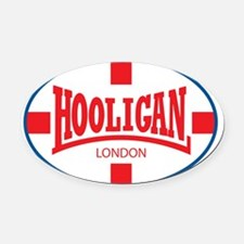 HooliganGeorgeXRED-copy Oval Car Magnet