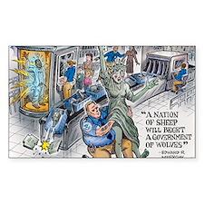 A nation of Sheep...TSA Abuse Decal