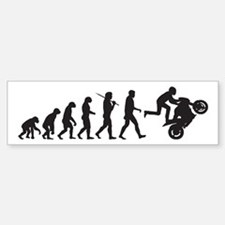 Motorcycle Wheelie Bumper Bumper Bumper Sticker