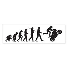 Motorcycle Wheelie Bumper Bumper Sticker