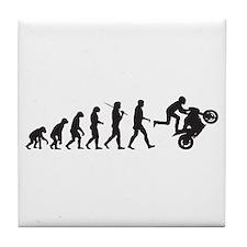 Motorcycle Wheelie Tile Coaster