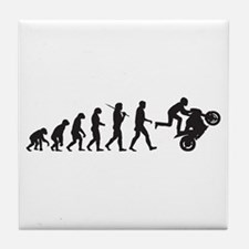 Motorcycle Wheelie Tile Coaster