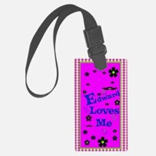 Edward Loves Me Patern 2444_ipho Luggage Tag