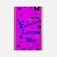 Edward Loves Me Patern 2444_iphon Rectangle Magnet