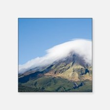 "Road and Mt Taranaki / Egmo Square Sticker 3"" x 3"""