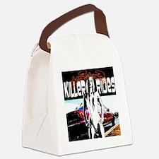 l clock killer rides 6 Canvas Lunch Bag