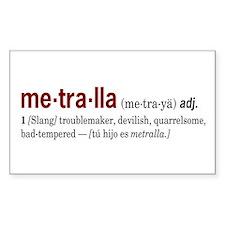 Metralla Rectangle Decal