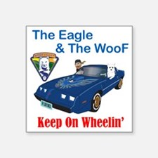 "EagleWoof2 Square Sticker 3"" x 3"""