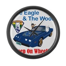 EagleWoof2 Large Wall Clock