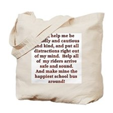 School Bus Driver's Prayer Tote Bag