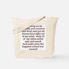 School Bus Driver's Prayer Tote Bag