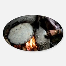 Cooking traditional breadafah house Sticker (Oval)