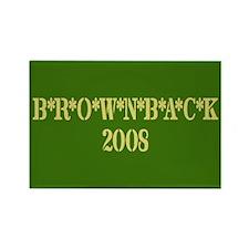 B*R*O*W*N*B*A*C*K 2008 Rectangle Magnet (100 pack)