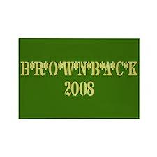 B*R*O*W*N*B*A*C*K 2008 Rectangle Magnet (10 pack)