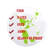 """zombieready 3.5"""" Button"""