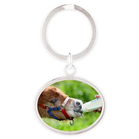 Orphaned Foal - Joy Oval Keychain